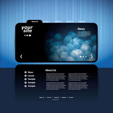 portfolio template: Website template Illustration