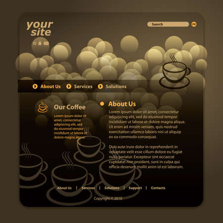 internet cafe: Website template Illustration