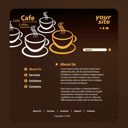 cafe internet: Sitio Web de plantilla Vectores