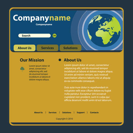 Website Template Vector Stock Vector - 12080891