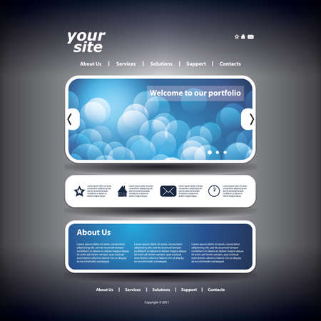 web site design template: Website template Illustration