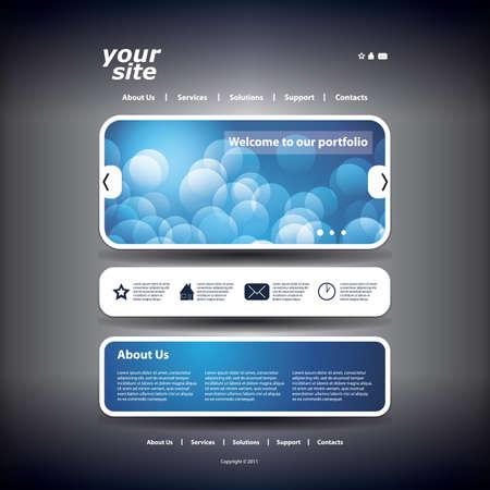 buttons web: Website template Illustration