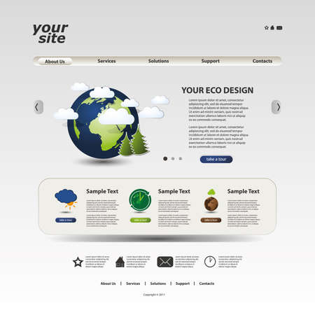 account form: Website template Illustration