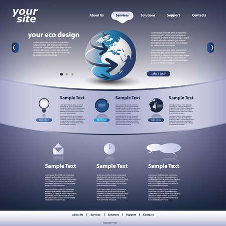 Website template Stock Vector - 12293099