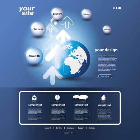 submenu: Website template Illustration