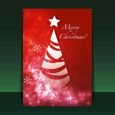 doodling: Christmas Flyer or Cover Design  Illustration