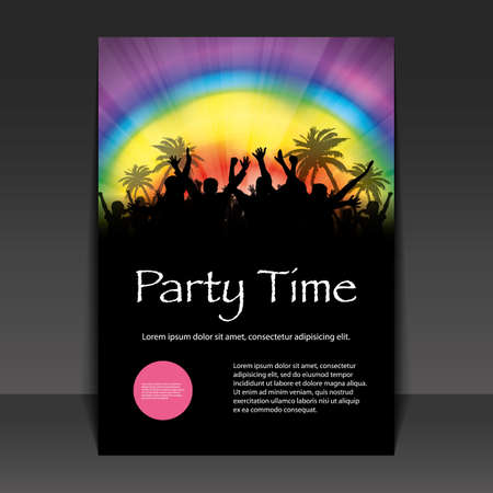 rave party: Flyer - Party Time Vectores
