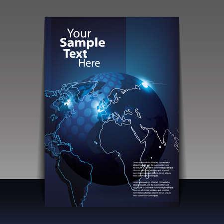 kopie: Digitální zeměkoule konstrukce vektoru Ilustrace