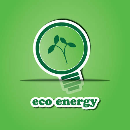 Eco Energy Icon or Badge Design Vector