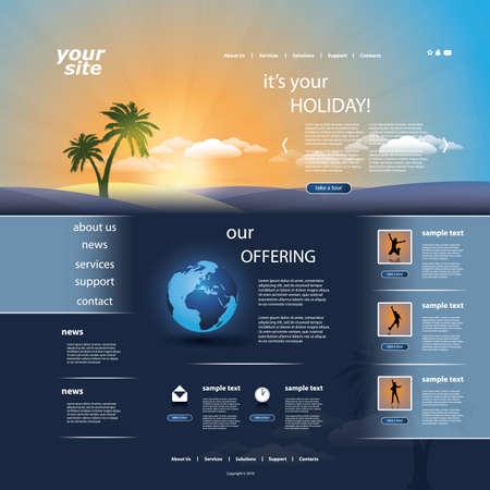 Website template Stock Vector - 11909277