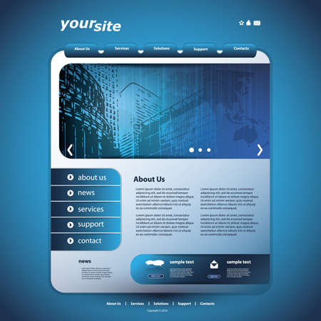 building a website: Website Design Template