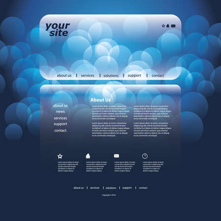 Website template Stock Vector - 12039660