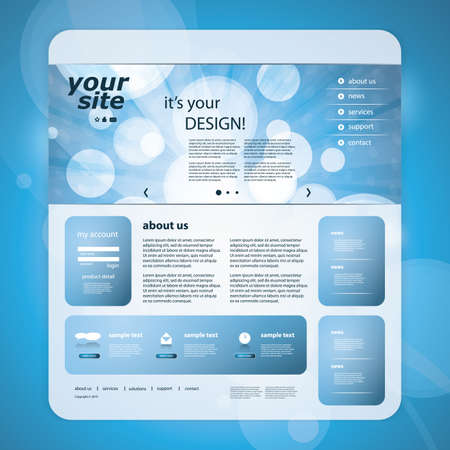 Website template Stock Vector - 11865555