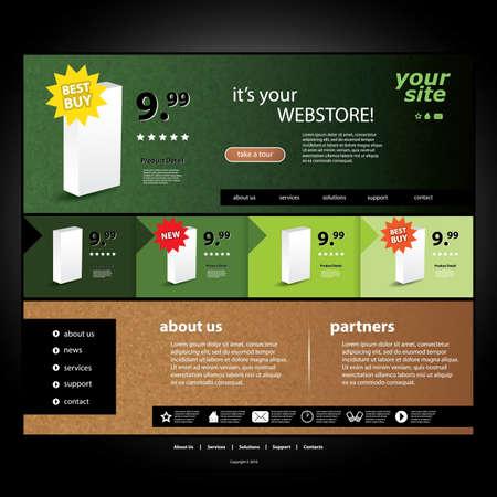 Webstore template Stock Vector - 12451291