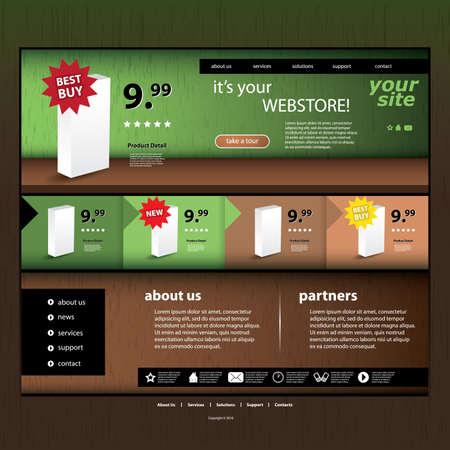 Webstore template Stock Vector - 12440921