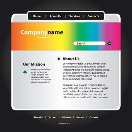 Website Template Vector Stock Vector - 12474713
