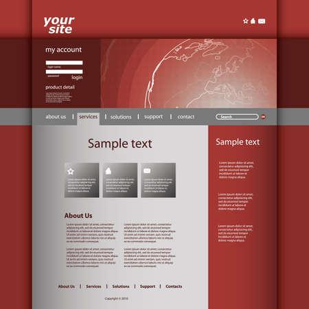 Website Template Stock Vector - 12456365