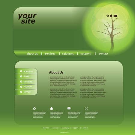 submenu: Eco Website Template Illustration