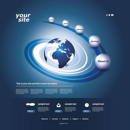 webpages: Website template Illustration