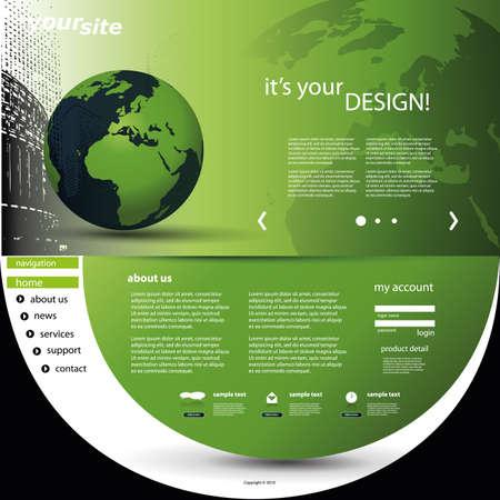 Website Template Stock Vector - 12440922