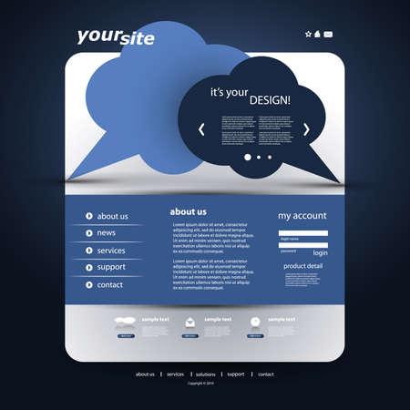 Website Template Stock Vector - 12456359