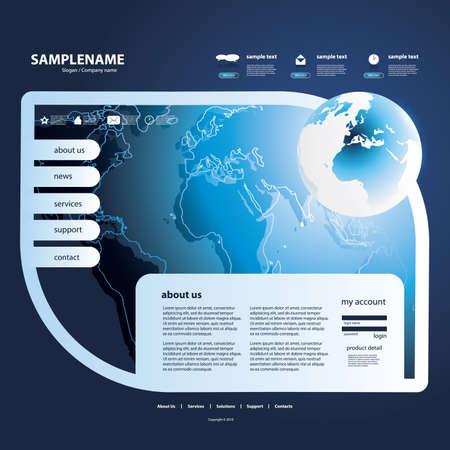 Website Template Stock Vector - 12504400