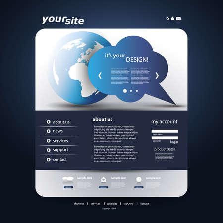 Website Template Stock Vector - 12780109