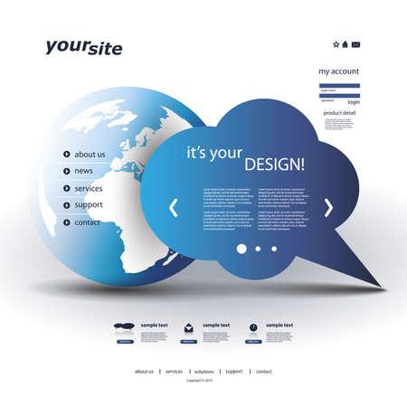 world ideas: Website Template