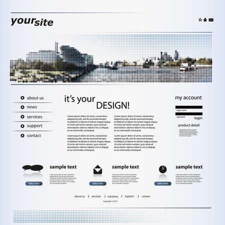 blog design: Website Template