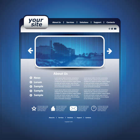 Website template Stock Vector - 12504399