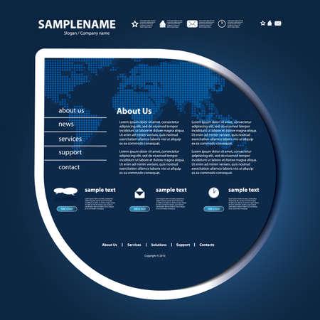 Website Template Stock Vector - 12456363