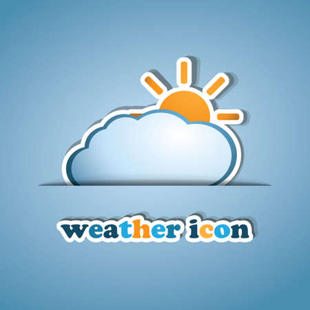 Sun and Cloud - label design Vector