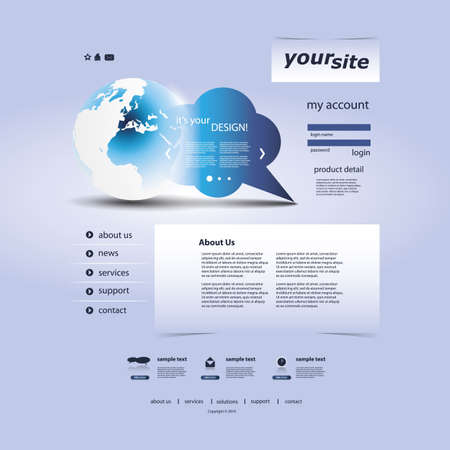 Website Template Stock Vector - 11645733