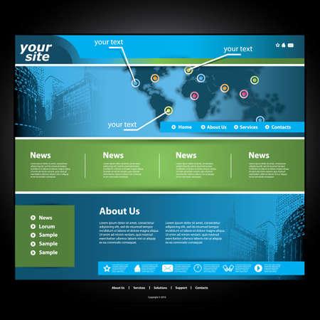 Website Template Stock Vector - 11645734
