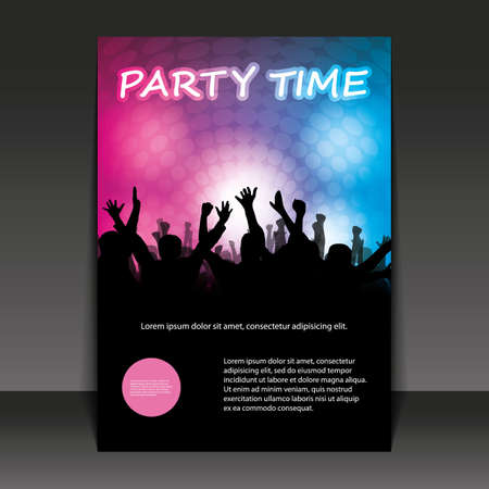 Flyer Design - Party Time Stock Vector - 11713185