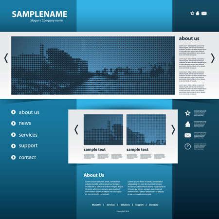 Website Template Stock Vector - 11713182