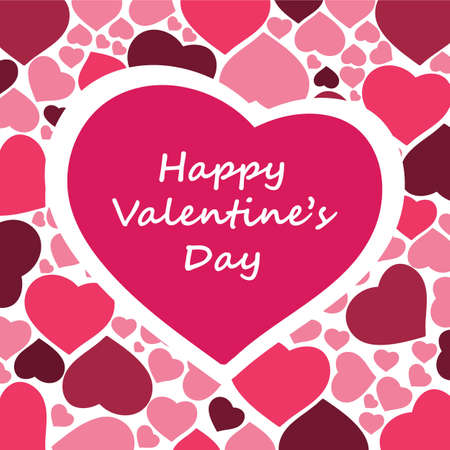 day valentine's day: Hearts Background Vector for Valentines Day