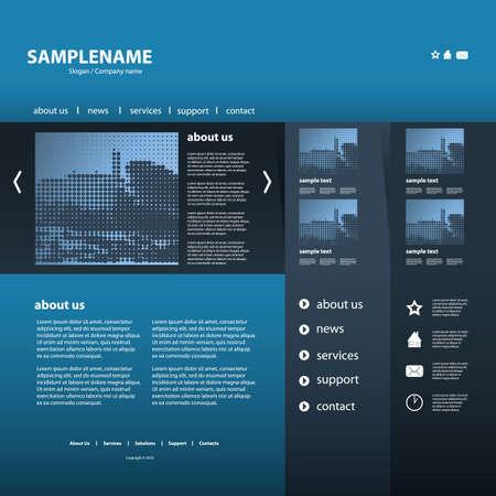 Website Template Stock Vector - 11815339