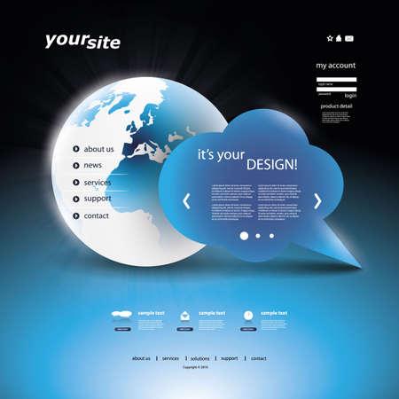 Website Template Stock Vector - 11815336