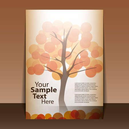 Autumn Flyer Design Vector