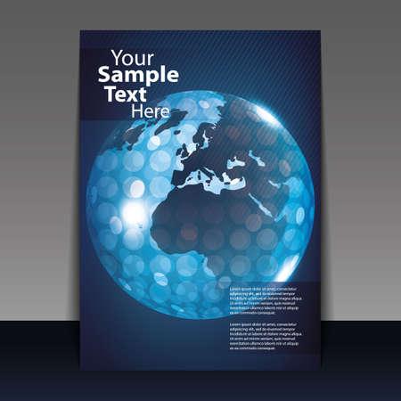 Digital globe flyer or cover design vector  Vector