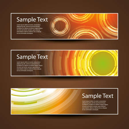 Three Header Designs Vector