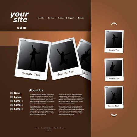 Website template Stock Vector - 12007089