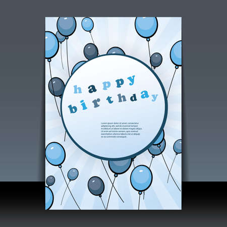Birthday Card, Flyer or Cover Design Vector