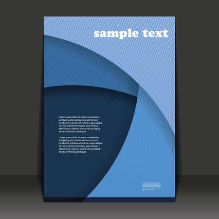 Flyer abstracto o diseño de la cubierta