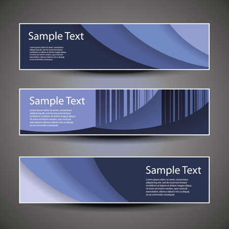 Three Header Designs Vector