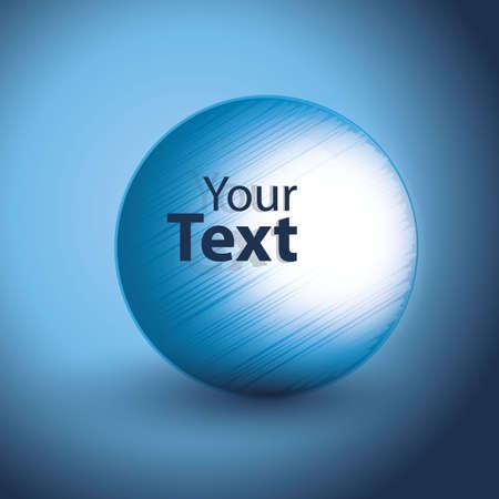 design media love: Big Blue Speech Bubble Illustration Illustration