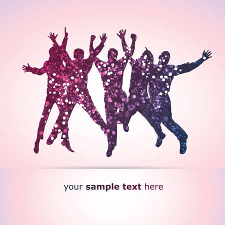 happy people: Party People Vector Background