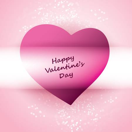 Pink Heart  - Happy Valentines Day Background Stock Vector - 12245474