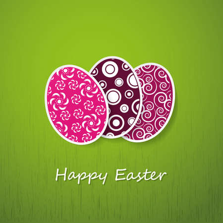 Happy Easter Card Stock Vector - 12284302